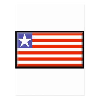 Liberia Flag Postcard