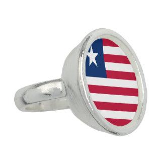 Liberia Flag Ring