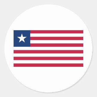 Liberia Flag Round Sticker