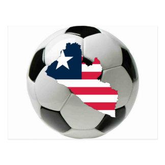 Liberia football soccer postcard