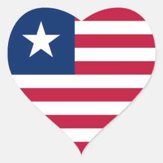 liberia heart sticker