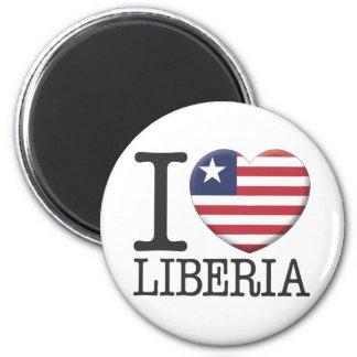 Liberia Refrigerator Magnet