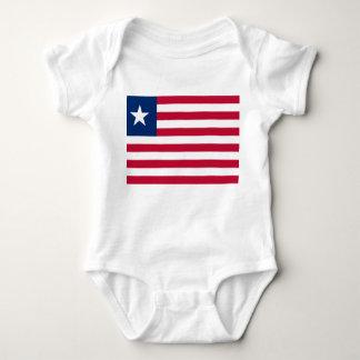Liberia National World Flag Baby Bodysuit