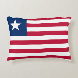 Liberia National World Flag Decorative Pillow