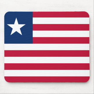 Liberia National World Flag Mouse Pad