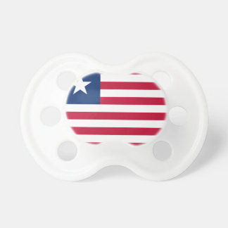 Liberia National World Flag Pacifier