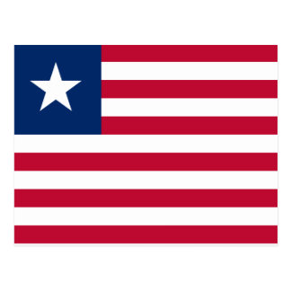 Liberia National World Flag Postcard