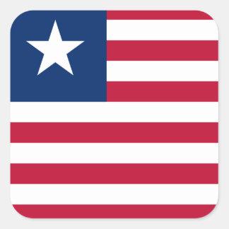 Liberia National World Flag Square Sticker