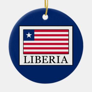 Liberia Round Ceramic Ornament