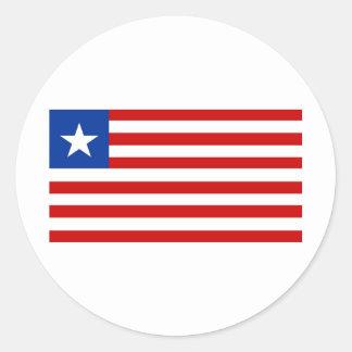 Liberia Round Sticker