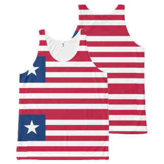 Liberian flag All-Over-Print tank top