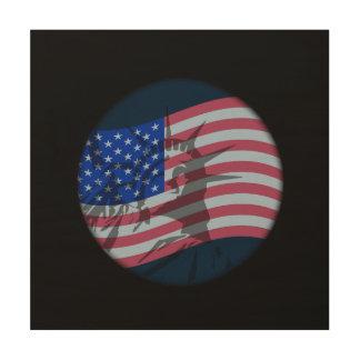 LIBERT OVER FLAG WALL ART