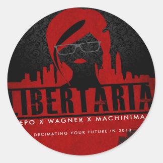 Libertaria Art Movie Gifts Round Stickers