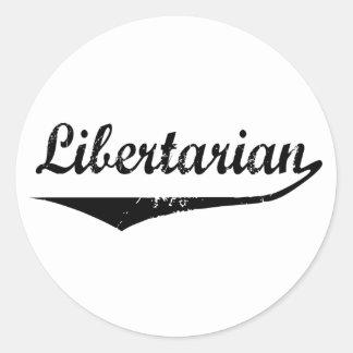 Libertarian Classic Round Sticker