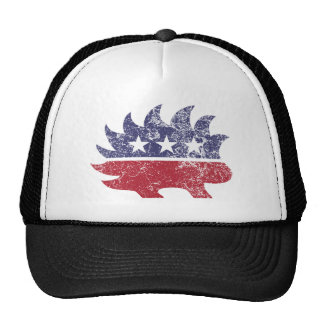Libertarian distressed trucker hat