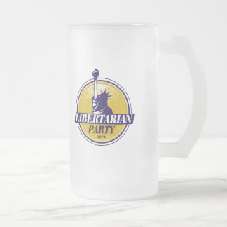 Libertarian Party Logo - Frosted Glass Beer Mug