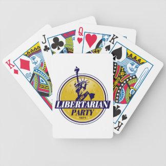 Libertarian Party Logo Politics Bicycle Playing Cards