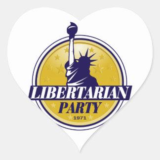 Libertarian Party Logo Heart Sticker