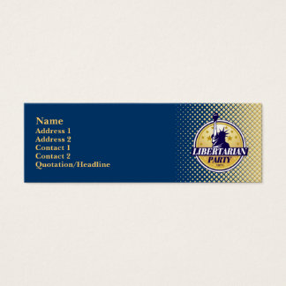 Libertarian Party Skinny Profile Cards