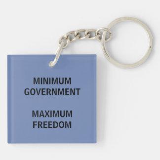 Libertarian Party Slogan Key Chain