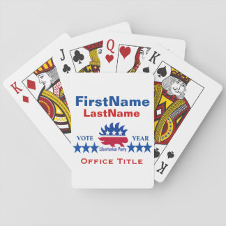 Libertarian Party Templates Playing Cards
