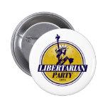 Libertarian Political Party Logo Pinback Buttons