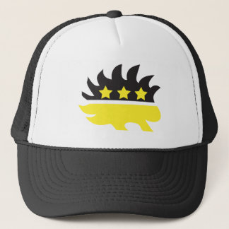 Libertarian porcupine logo (yellow) trucker hat