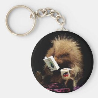 Libertarian Porcupine Mascot Civil Disobedience Basic Round Button Keychain