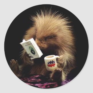 Libertarian Porcupine Mascot Civil Disobedience Classic Round Sticker