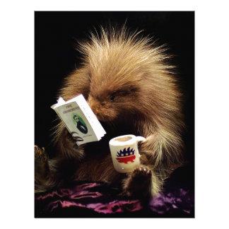 Libertarian Porcupine Mascot Civil Disobedience Letterhead