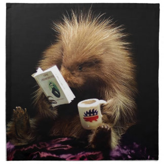 Libertarian Porcupine Mascot Civil Disobedience Napkin