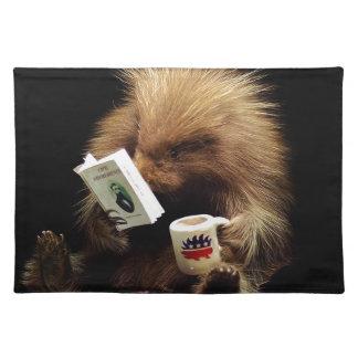 Libertarian Porcupine Mascot Civil Disobedience Placemat