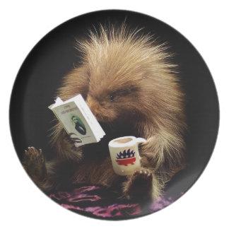 Libertarian Porcupine Mascot Civil Disobedience Plate