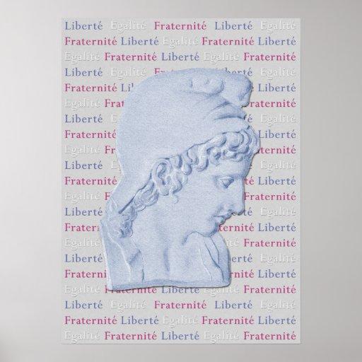 Liberté, Egalité, Fraternité French Liberty Poster