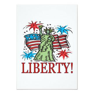 "Liberty 5"" X 7"" Invitation Card"