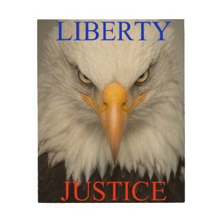 Liberty And Justice Wood Wall Art