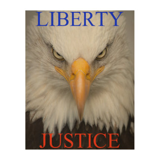 Liberty And Justice Wood Wall Decor