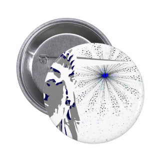 Liberty And Sky Rocket 2 Inch Round Button