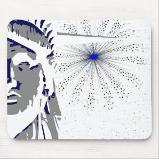 Liberty And Sky Rocket Mouse Pad