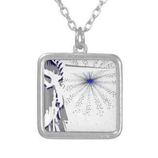 Liberty And Sky Rocket Silver Plated Necklace