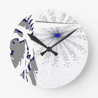 Liberty And Sky Rocket Wall Clock