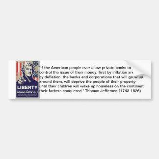 Liberty Anti Federal Reserve Sticker Bumper Sticker