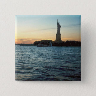 Liberty at sunset button
