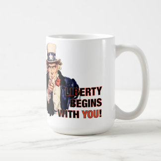 'Liberty Begins With You' Coffee Mug
