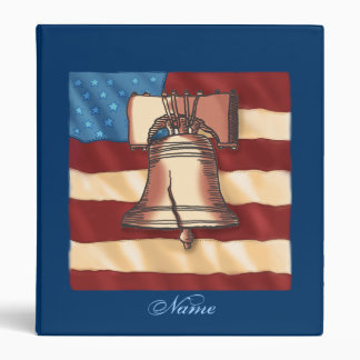 Liberty Bell Custom Name Binder