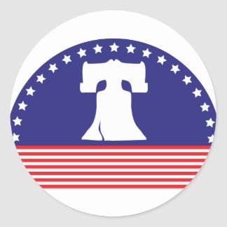 liberty bell flag round sticker