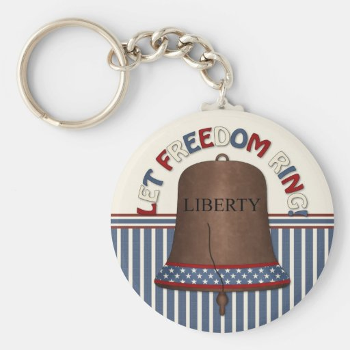 Liberty Bell on Stripe Key Chains