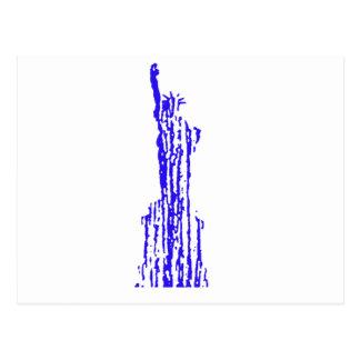 Liberty blue streak postcard