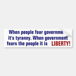 LIBERTY BUMPER STICKER