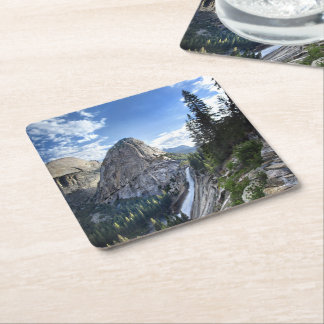 Liberty Cap and Nevada Fall - John Muir Trail Square Paper Coaster